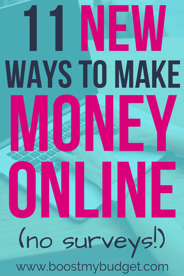 NEW ways to make money online! Are you tired of seeing the same old recommendations for making money with surveys or blogging? Here are 11 brand new ideas you probably haven't heard of before! Click through to read!