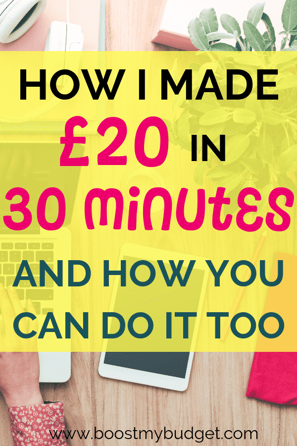 I made £20 in half an hour with this new money making site! It really is an easy and quick way to make extra money. Click through to find out how I did it!