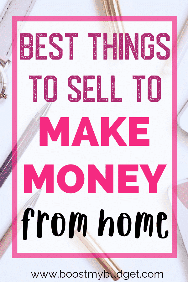 When you need to make money, a great way to start is by selling things online. But what are the best things to sell online to make money? Click through for the list!