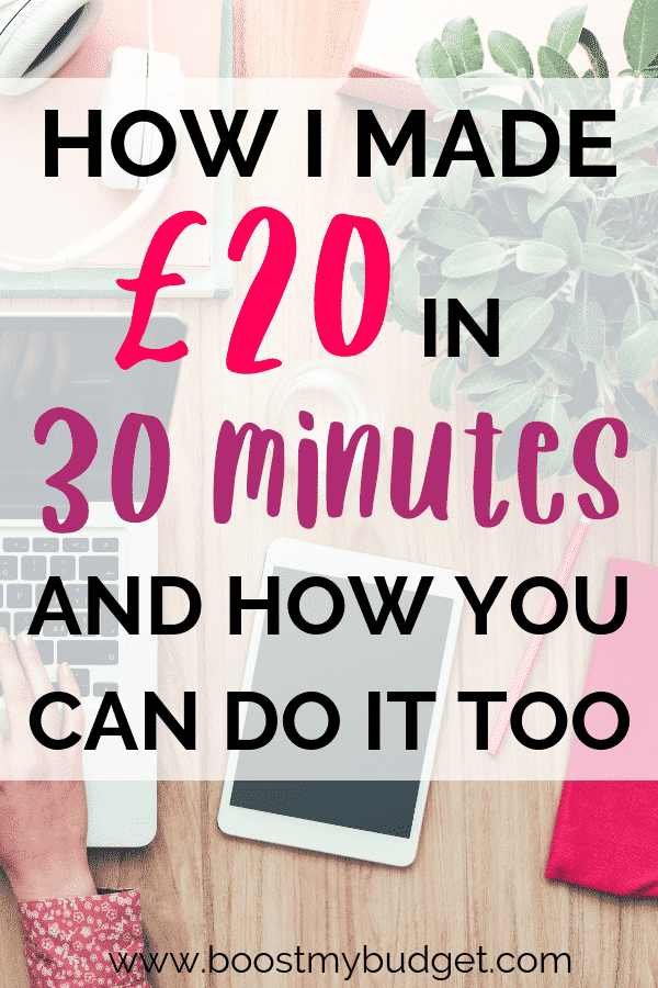 How I made £20 in less than half an hour with this new website to make money online in the UK! I really recommend this site as a way to make money fast. Click through to find out how you can copy my results!