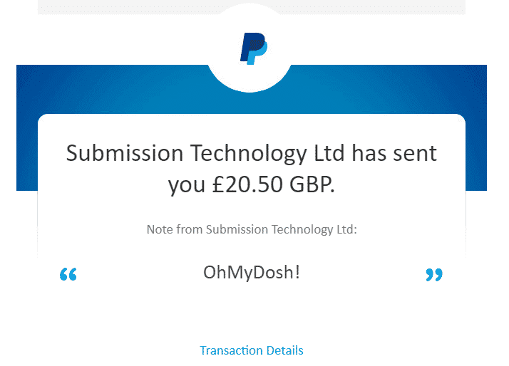ohmydosh proof of payment