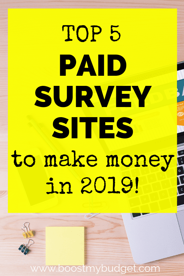 Want to make money online in 2019? Don't waste your time - join these 5 survey sites that pay well and start taking surveys for money today!
