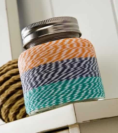 bakers twine DIY jars