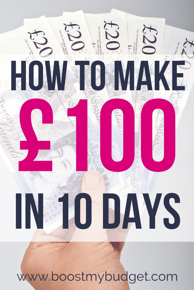 How to Make £100 in 10 Days: are you interested in making money from home in the UK? Start here with my free money making challenge! I'll email you new ways to make money from home every day for 10 days!