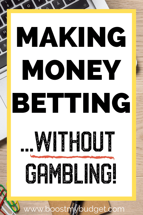 How to make money betting online - WITHOUT gambling! I know it doesn't sound possible, but please just click through and read how it's done! This is my top recommended way to make money online in the UK. I make between £300 and £600 a month doing this and many people make even more. Perfect side hustle idea in the UK :)
