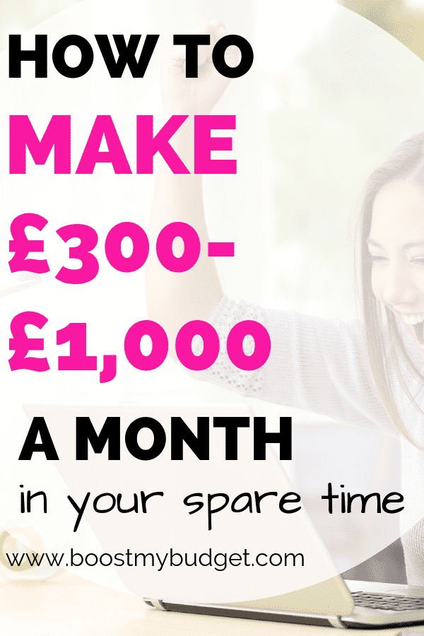 Looking for side hustle ideas in the UK? Here's how to make money online from home - up to £1000 a month to be precise! Perfect side hustle for students and stay at home mums, and it even fits in around a 9-5 job!