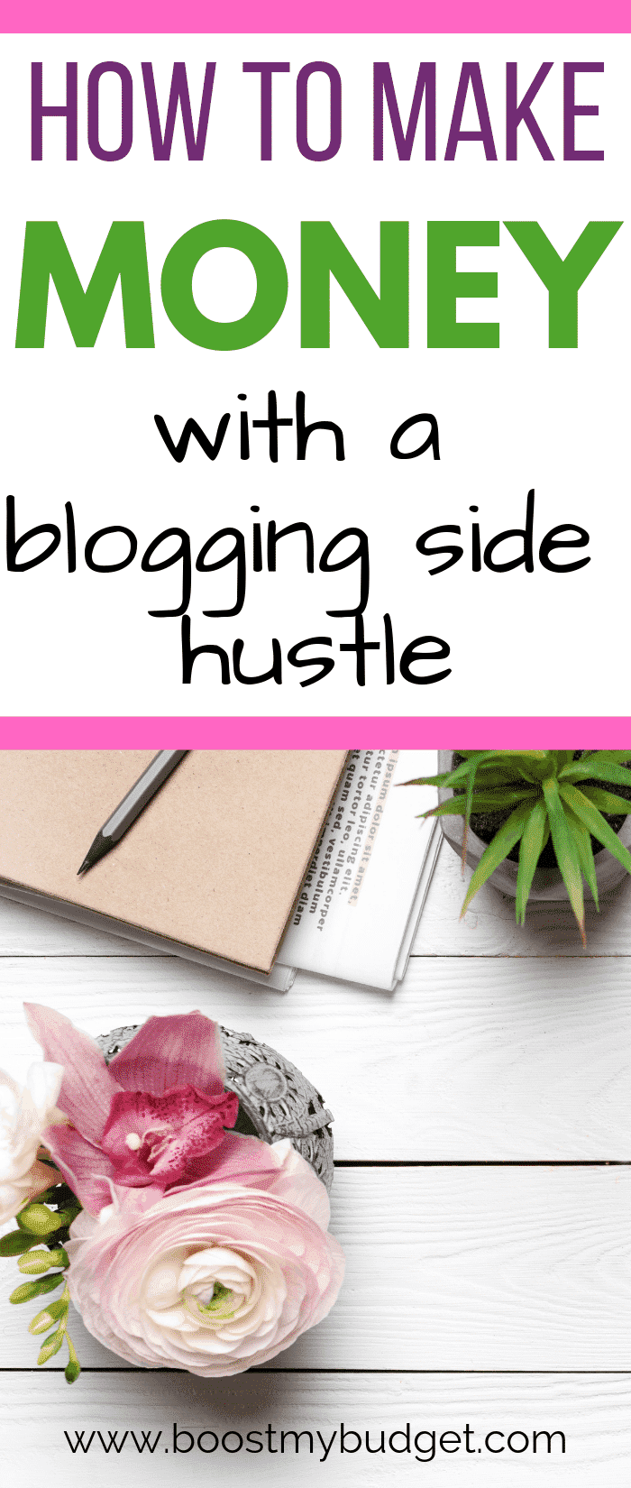 How to make money blogging as a side hustle! You don't need to quit your job to be a blogger - here's how to make it work.