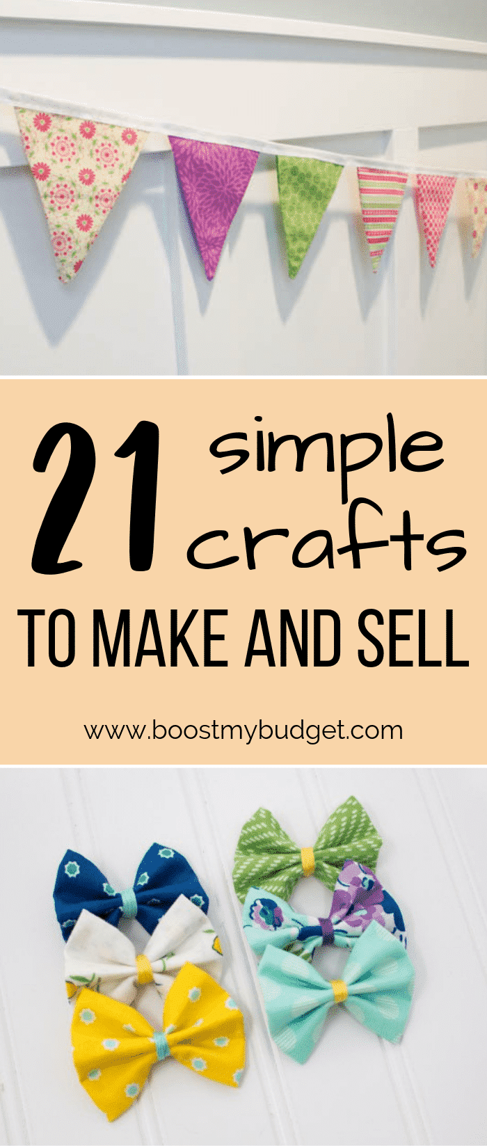Looking for a unique home business idea? How about making crafts to sell online? These cheap and easy craft projects will sell for money, and they're so easy, adults and children alike can make them!