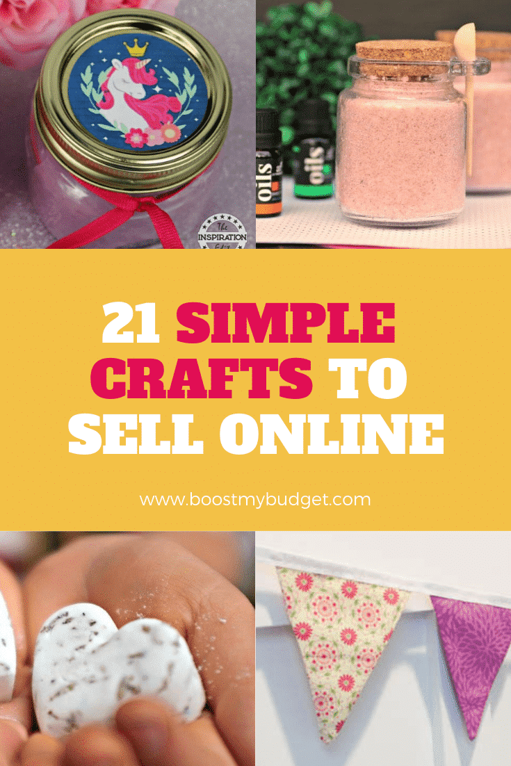 Looking for crafts to make and sell? 21 simple but effective ideas in this post!