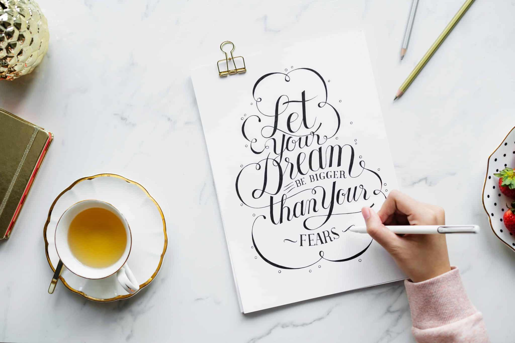 A calligraphy quote art print. You could sell these on Etsy.