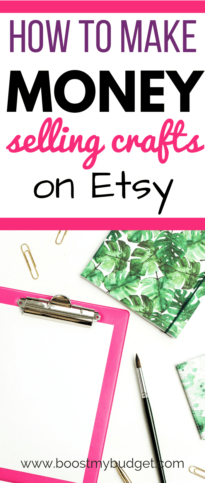 Wondering how to make an Etsy shop? This woman sells handmade crafts and makes money from home. Could you do the same? Click through for ideas and inspiration, and start making extra money this month!