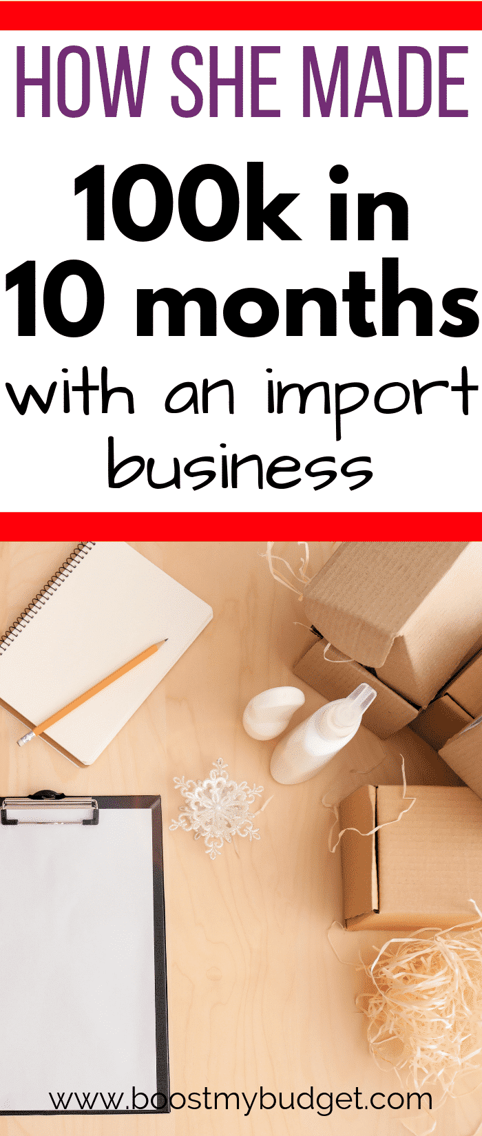 Here's a creative business idea... she set up a side hustle importing craft goods wholesale and selling to crafters in the UK. Learn how she does it and how you can start your own business too!