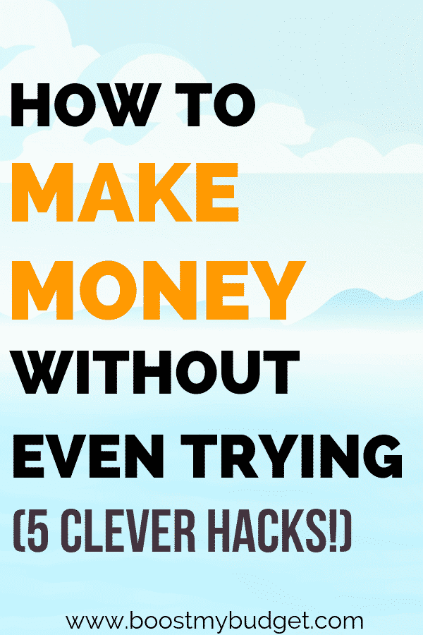 Money making hacks! Do you want to make more money? Here are 5 easy tips to make extra cash at home, with almost no effort! These hacks won't make you rich, but they are easy set-it-and-forget-it ways to make extra money without getting a second job. Perfect for busy people!