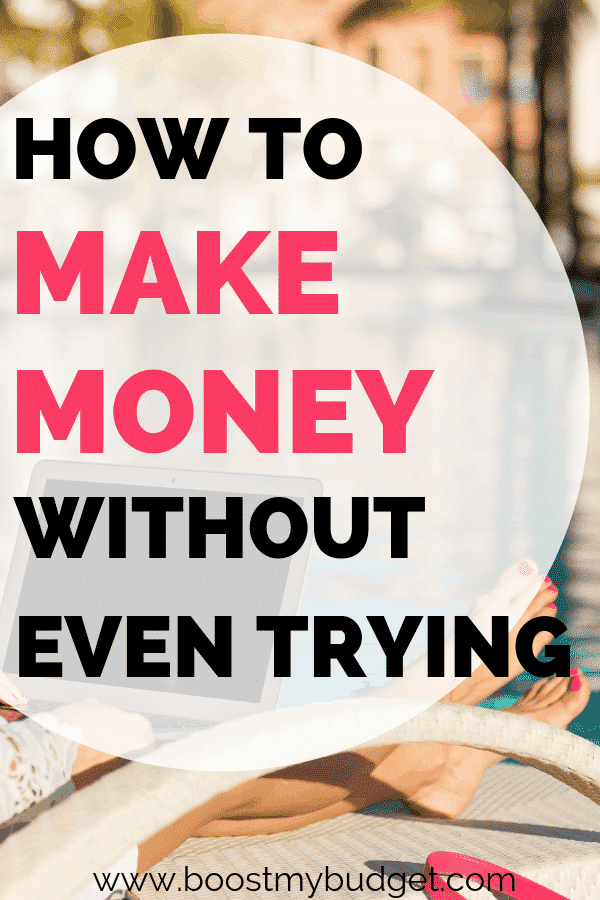 5 easy money making hacks... click through to learn how you can make money without even trying! These are clever things you can set up now to make money on autopilot with no effort. Perfect for busy people!