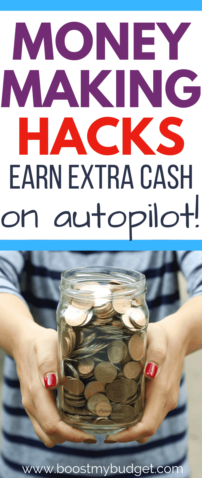 How to make money on autopilot! With these 5 clever money making hacks, you'll make extra cash without even noticing. Click through to find out how!
