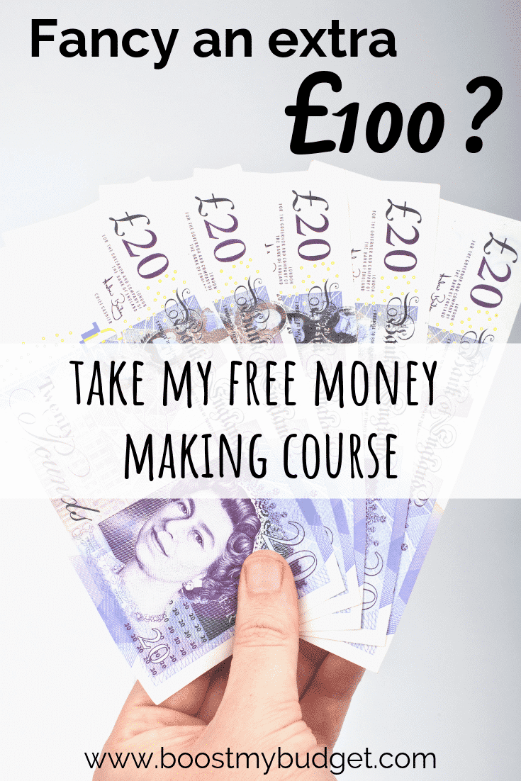 Want an extra £100 for free? Who doesn't! If you want to learn how to make money from home in the UK, my free money making challenge is designed for you. I'll show you exactly what steps to take to make £100 cash in the next couple of weeks.
