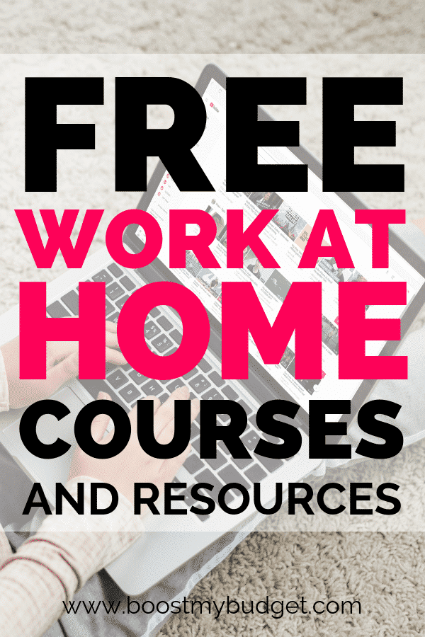 Free work at home training courses... if you want a work from home job in 2019, find ideas on this awesome list!