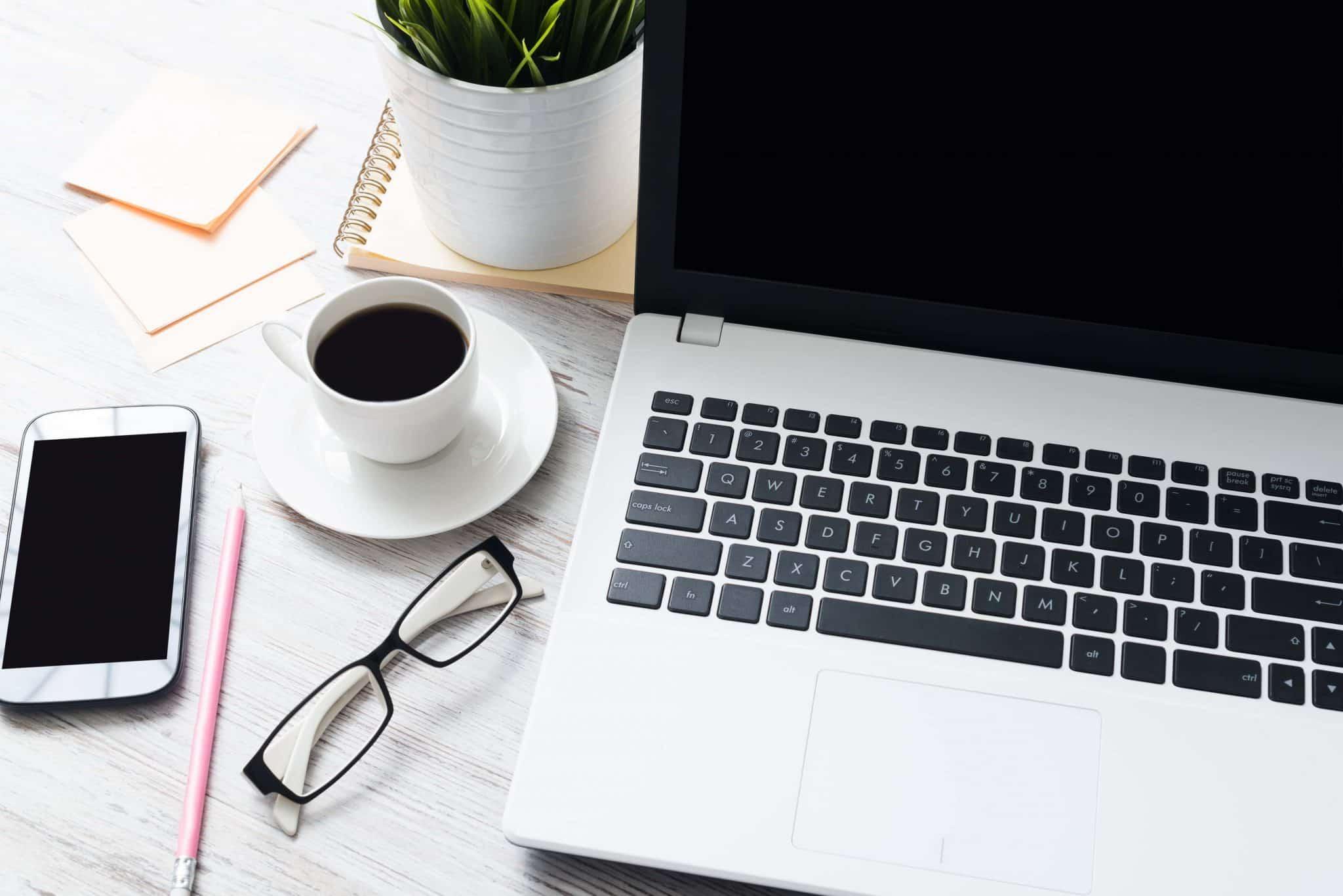 blogger desktop shot