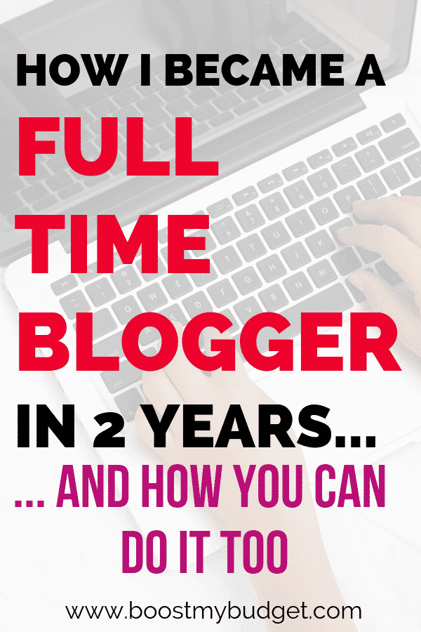 I became a full time blogger in less than two years! That's right, I made enough money blogging part time to quite my full time job. If you want to learn how to make money blogging you NEED to read this post to find out exactly how I did it! (includes income stats!)