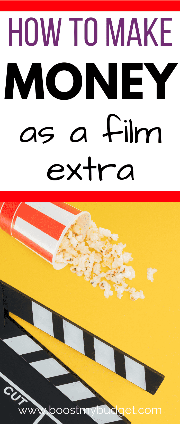 Fun side hustle idea to make extra cash in the UK! How about working as a film extra?? Here's how to get started, and how much you can expect to make, including which agency to sign up with!