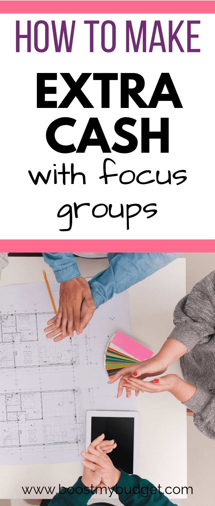 Make money in your spare time with focus groups! Focus groups simply involve a group chat about your opinions and experiences. Like an in-person paid survey - only it pays WAY better! You can do them in the evenings after your day job - a perfect way to make extra money for busy people. Click through for a list of focus group companies to join.