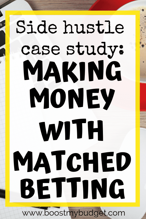 Looking for side hustle ideas in the UK? Matched betting is one of the best ways I've found to make money online in the UK. Read this case study to find out how one woman makes up to £750 extra money each month in just a few hours each week!