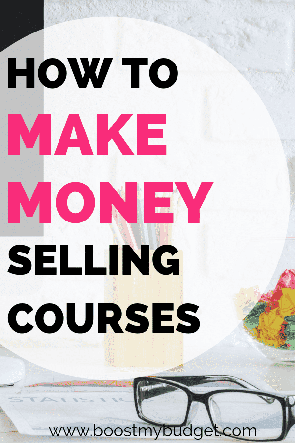 Find out how this inspirational woman makes money selling online courses! Online courses can be a great source of passive income - make them once, and make sales forever with no additional cost. A great side hustle idea for busy women!
