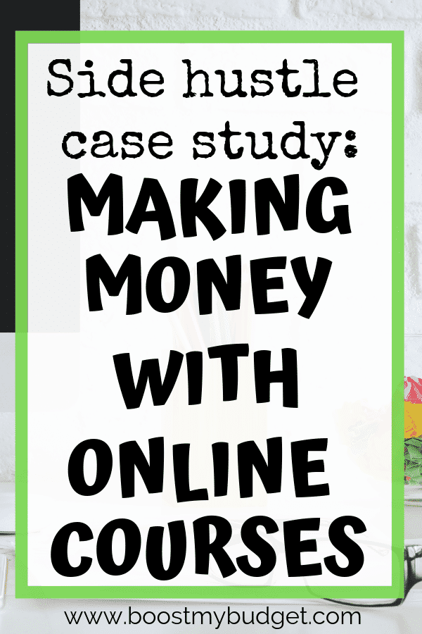 Find out how this inspirational woman makes money selling online courses! Online courses can be a great source of passive income - make them once, and make sales forever with no additional cost. A great side hustle idea for busy entrepreneurs!