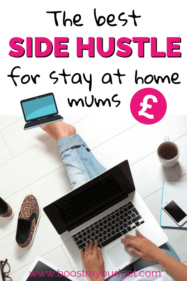 Perfect side hustle idea for stay at home mums in the UK! Earn money from home while you stay home with your baby!