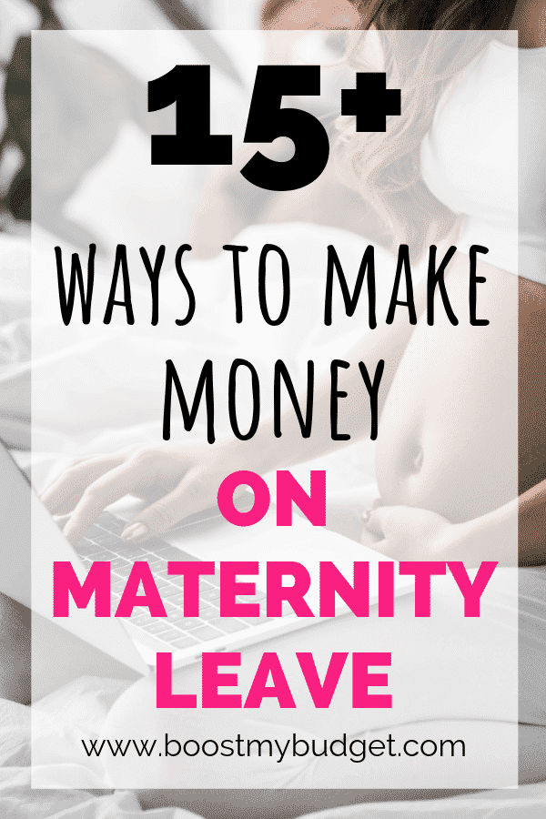 Over 15 different ways to make money on maternity leave! Whether you just need a bit of extra money each month or you want to start a business so you don't have to go back to work afterwards, you'll find some great ideas in this post