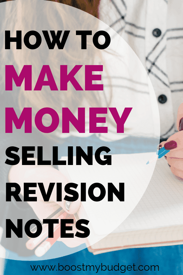 Great side hustle idea for students! You can make money selling revision notes to your classmates. Here's how one student did it to make extra cash in her first year at university!