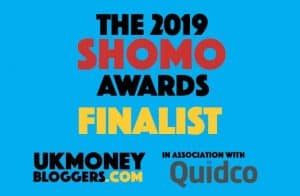 SHOMOs money blog awards 2019 - finalist for best money making blog in the UK