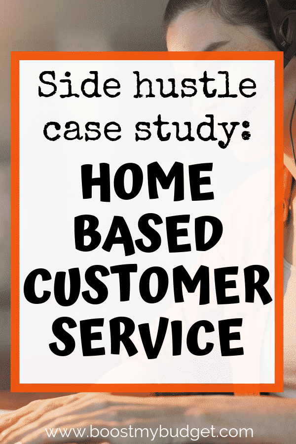 Great side hustle idea for mums! How to work part time from home in a customer service phone support role.
