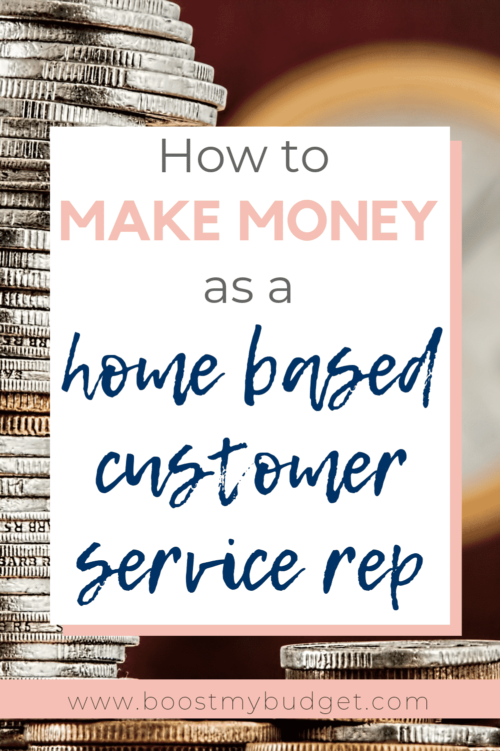 How to make money from home as a customer service rep! This is a perfect way for stay at home mums to earn extra money. Find out more in this post!