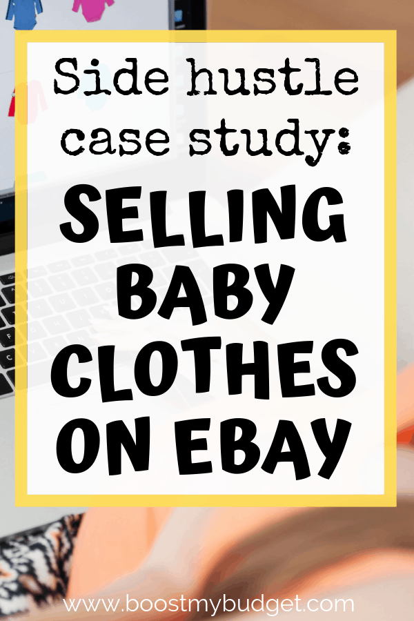 Side hustle case study - read how this new mum made nearly £8000 from home selling her children's second hand clothes online in her own eBay store. Learn how to set up your own store and make money from home too!