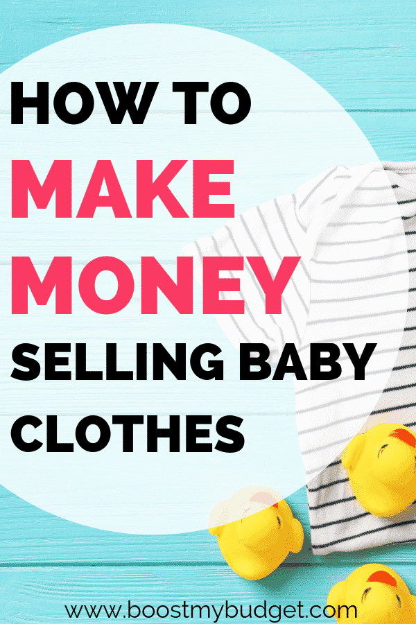 How to make money selling baby clothes online - the perfect side hustle business for new mums!