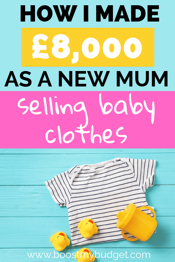 A simple, no effort side hustle idea for stay at home mums who need some extra cash! Find out how this mom sells her baby's second hand clothes online to make extra money!