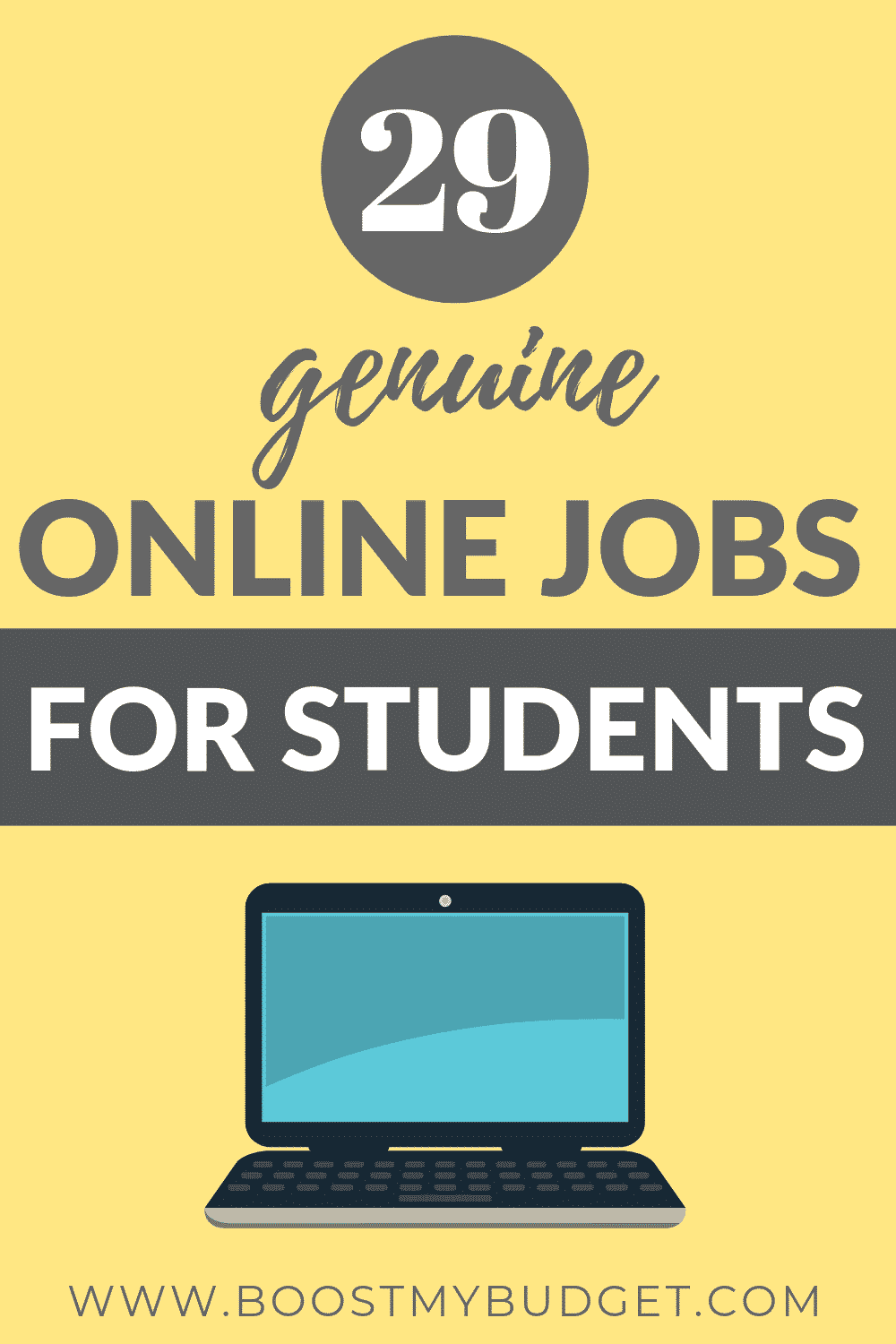 Epic list of online jobs for college students! Learn how to easily make money online from home in your spare time!