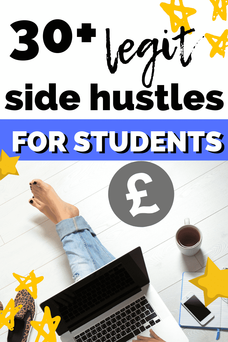 Huge list of online side hustle ideas for university and college students! Make extra cash online!