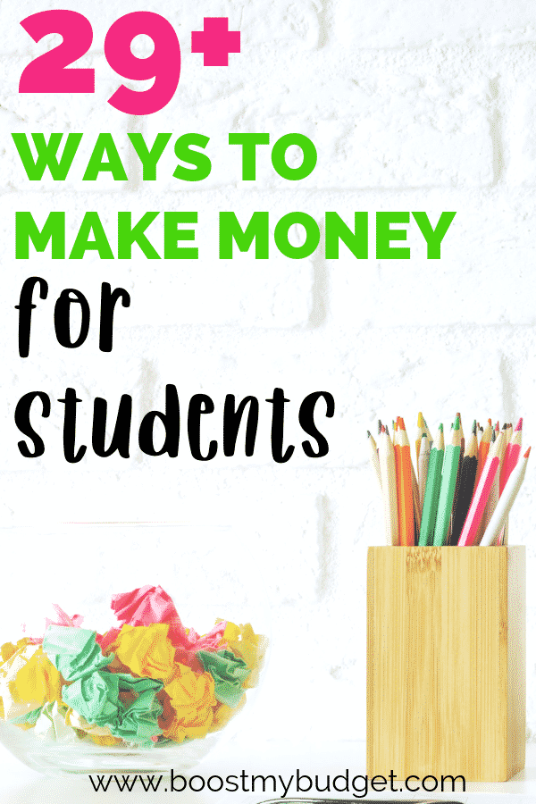 Huge list of ways for students to make money online!