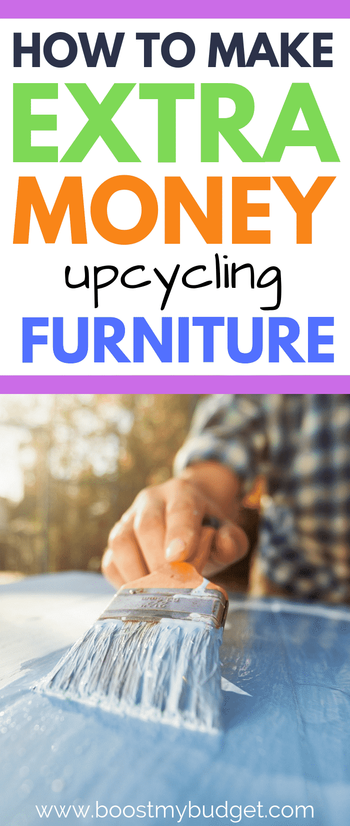 Learn how to make money flipping and upcycling old furniture - click through for all the details on how this mum uses her furniture restoration talents to earn extra cash for her family!