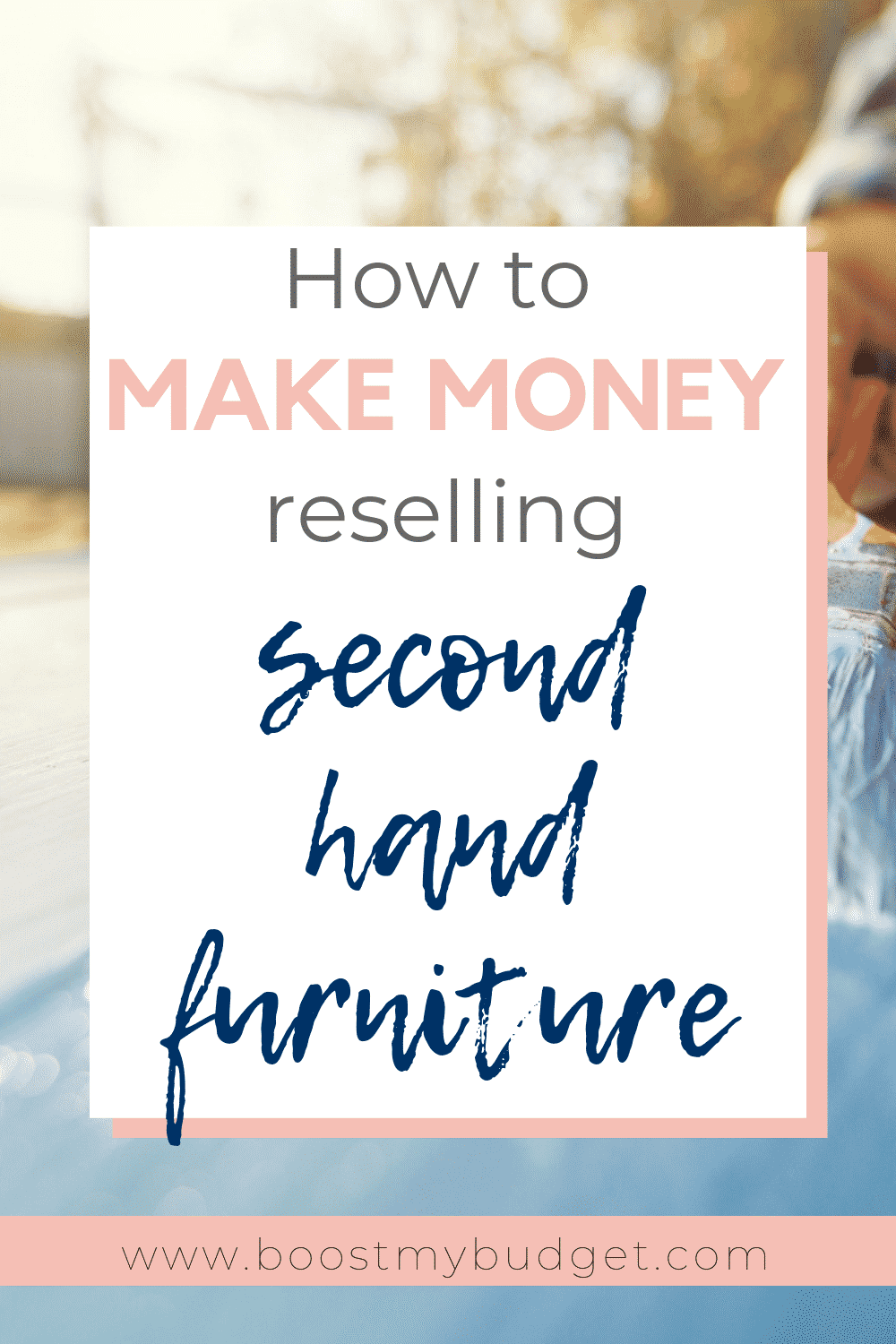 Learn how to make money by flipping and reselling second hand furniture! This is a fun way to earn extra cash if you're a creative type and enjoy decorating and restoring furniture