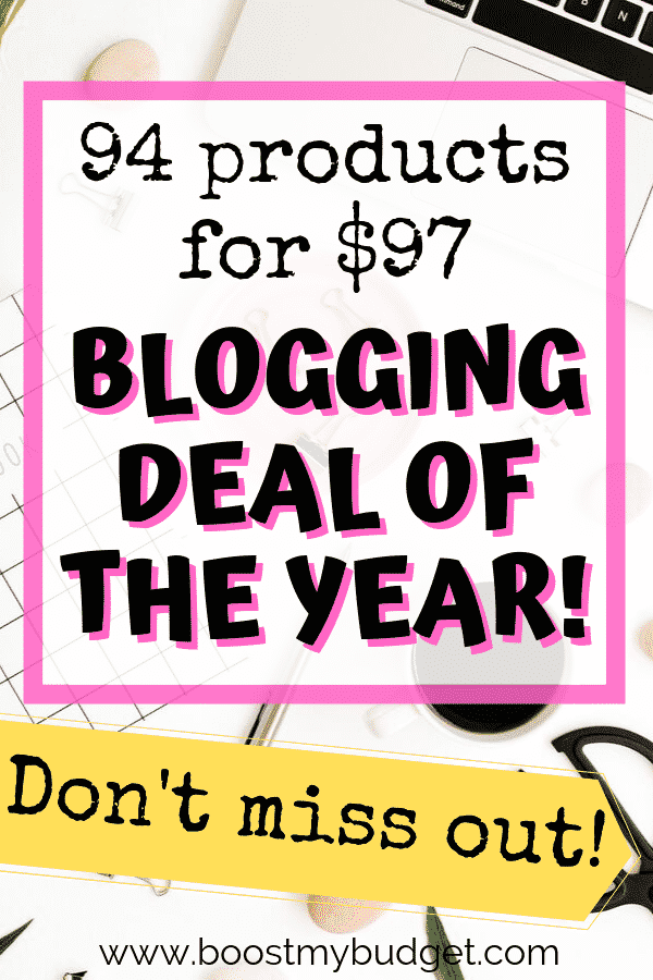 The Genius Blogger's Toolkit 2019 is BACK for a LIMITED TIME ONLY! This is the one blogging purchase I make every year because it's such good value. But quick - it's only on sale for one week! Click through for my full review!