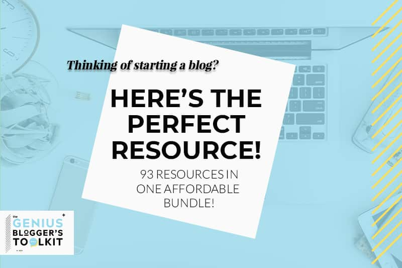 Here's the perfect resource to start your blog the right way.