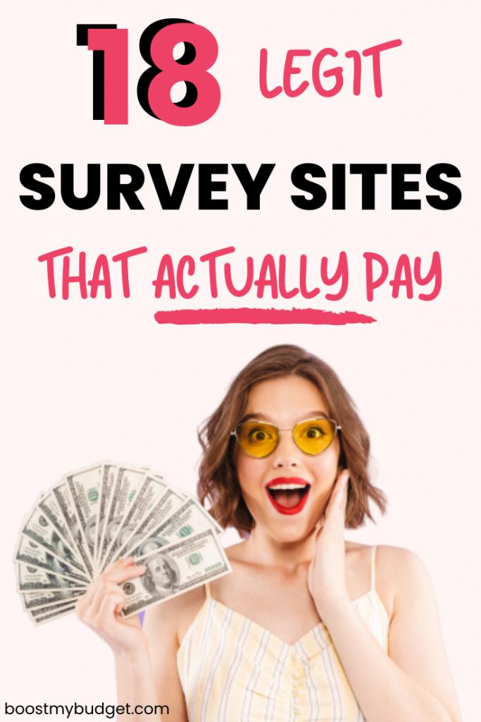 18 legit survey sites that ACTUALLY pay