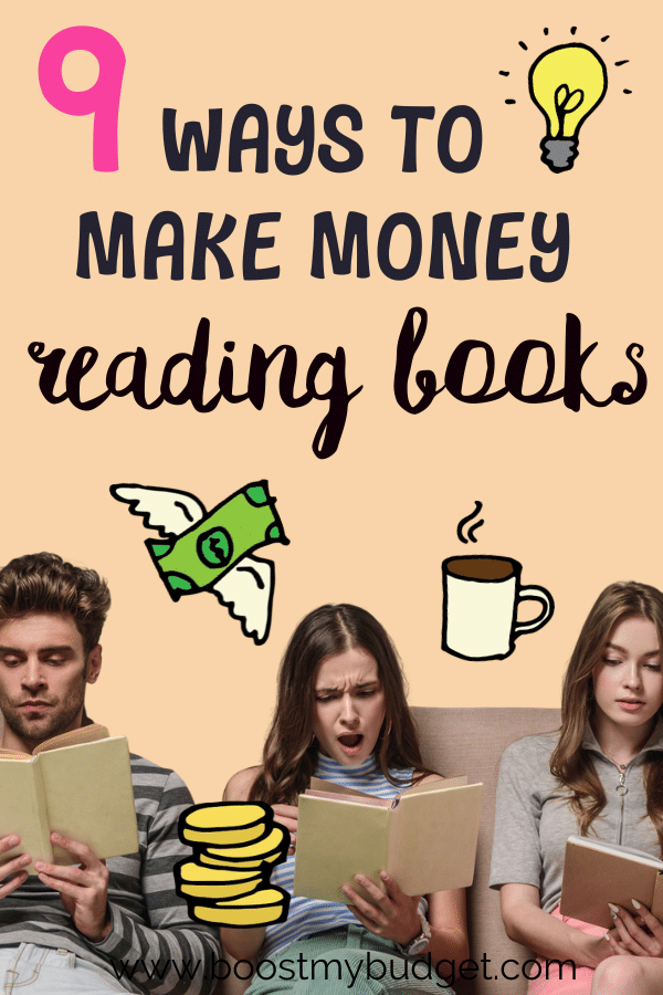 How to make money reading books! Yes, it is possible :) here are 9 amazing side hustles perfect for bookworms to make extra cash from your hobby