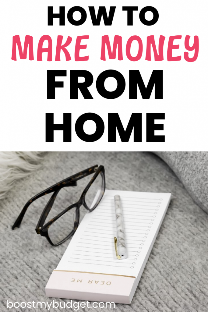 How to make money from home: you don't have to leave home to make extra cash. Here's a round up of top WFH jobs!