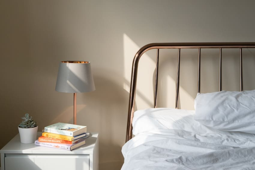 a bed, bedside table and lamp. make extra money renting out your spare room.