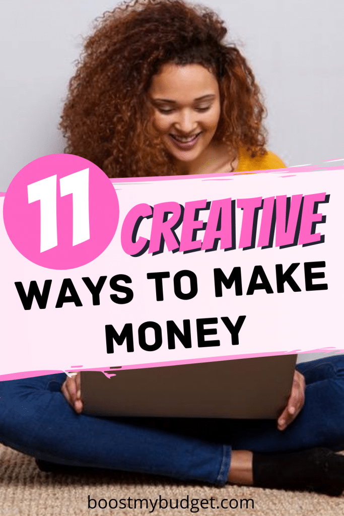 Creative ways to make money. Think outside the box and start making extra money with these 11 creative side hustles that anyone can do!