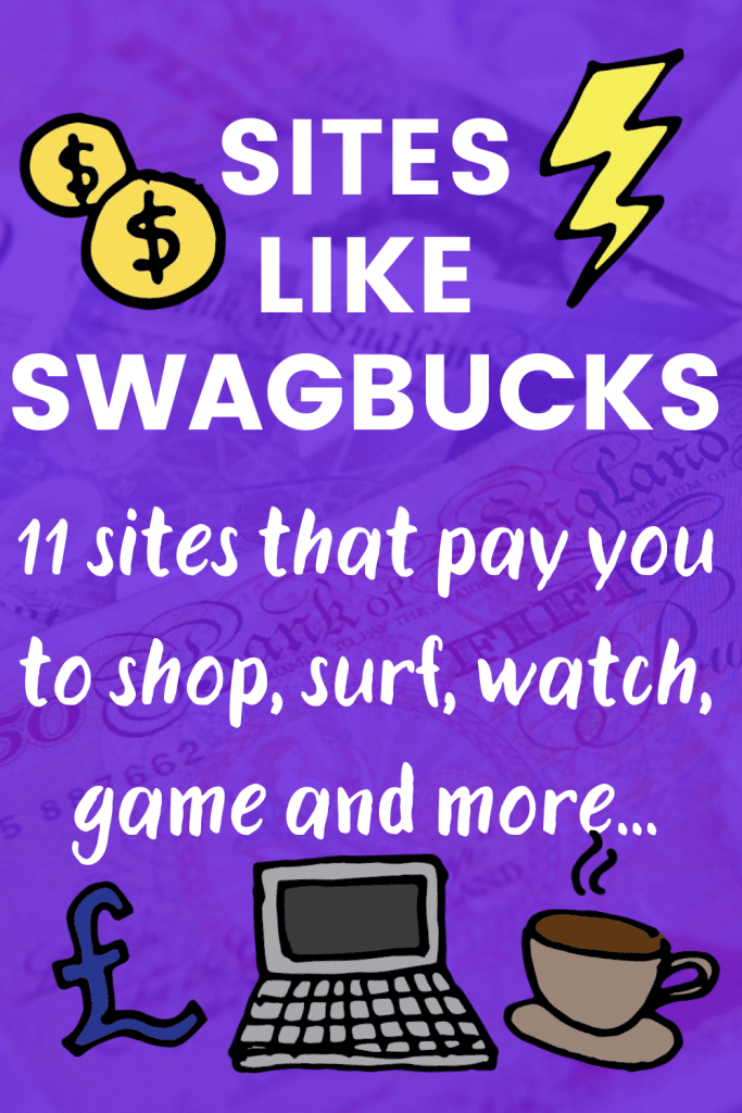 Pinterest image titled Sites Like Swagbucks: 11 sites that pay you to shop, surf, watch, game and more!